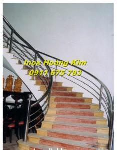 Cầu thang inox mẫu 20