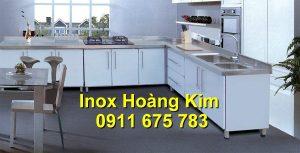 Tủ bếp inox mẫu 4