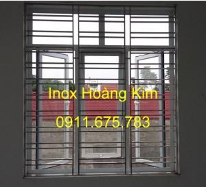Sen hoa cửa sổ inox mẫu 5