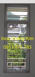 Sen hoa cửa sổ inox mẫu 6
