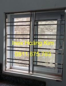 Sen hoa cửa sổ inox mẫu 8