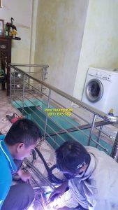 Cầu thang inox mẫu 57