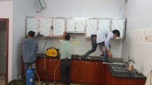 Tủ bếp inox mẫu 9