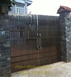 Cổng inox mẫu 12