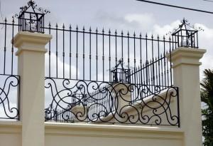 Hàng rào sắt mẫu 8