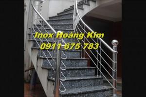 Cầu thang inox mẫu 22