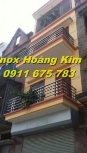 Lan can inox mẫu 5
