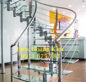 Cầu thang inox mẫu 24
