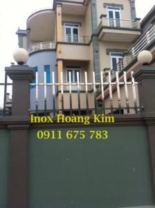 Hàng rào inox đẹp mẫu 2