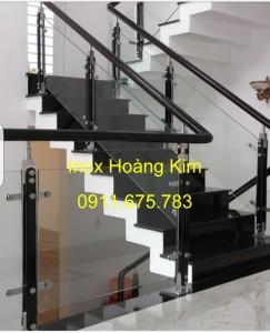 Cầu thang kính mẫu 24