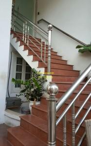 Cầu thang inox mẫu 52
