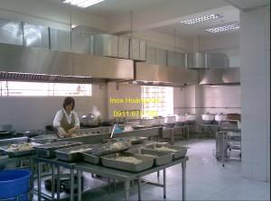 Bếp nhà hàng inox mẫu 1