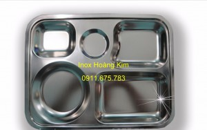 Khay đĩa inox mẫu 2