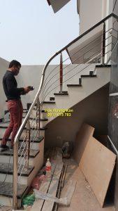 Cầu thang inox mẫu 56