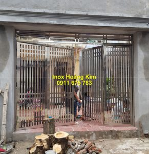 Cổng inox mẫu 177