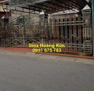 Cổng inox mẫu 227