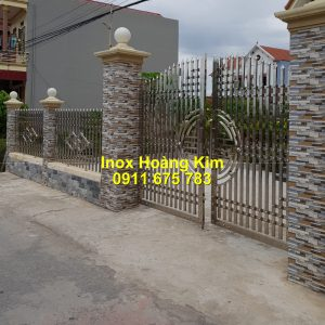 Hàng rào inox mẫu 49