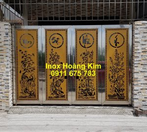 Cổng inox mẫu 245